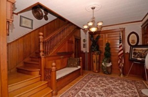 Beautiful Open Wood Staircase leading to 2nd floor rooms